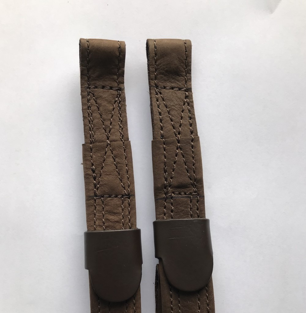 T-Bar Leathers covered in Brown Nu-Buck